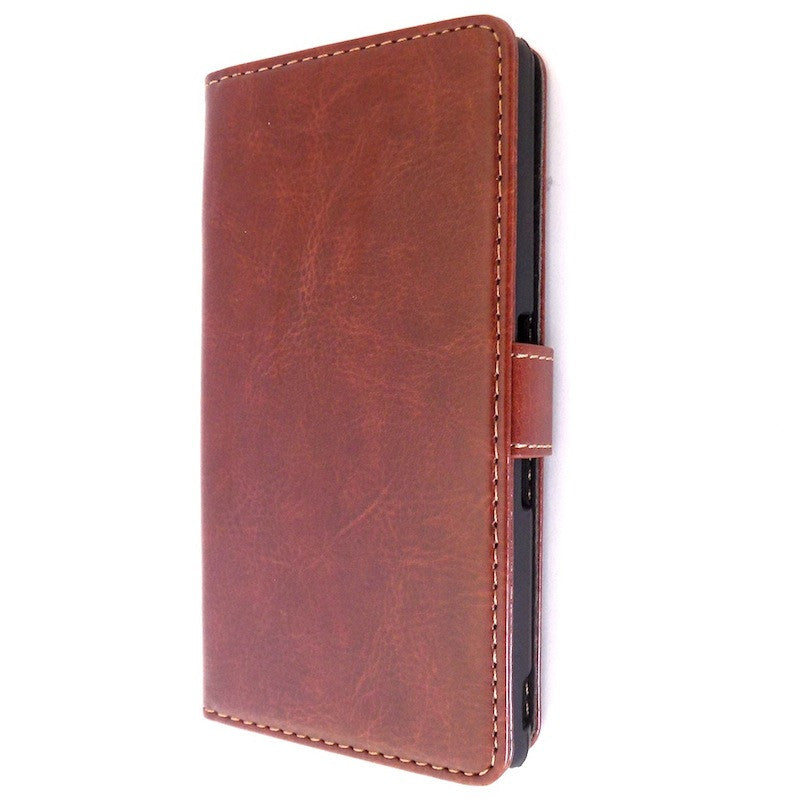 Bracevor Executive Brown Sony Xperia Z L36H Wallet Leather Case 1