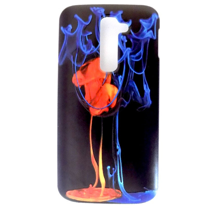 Bracevor Fire and Ice Design Hard Back Case for LG G2