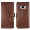 Samsung Galaxy S8 Plus Flip Cover Case : Inner TPU, Premium Leather Wallet Stand - Executive Brown