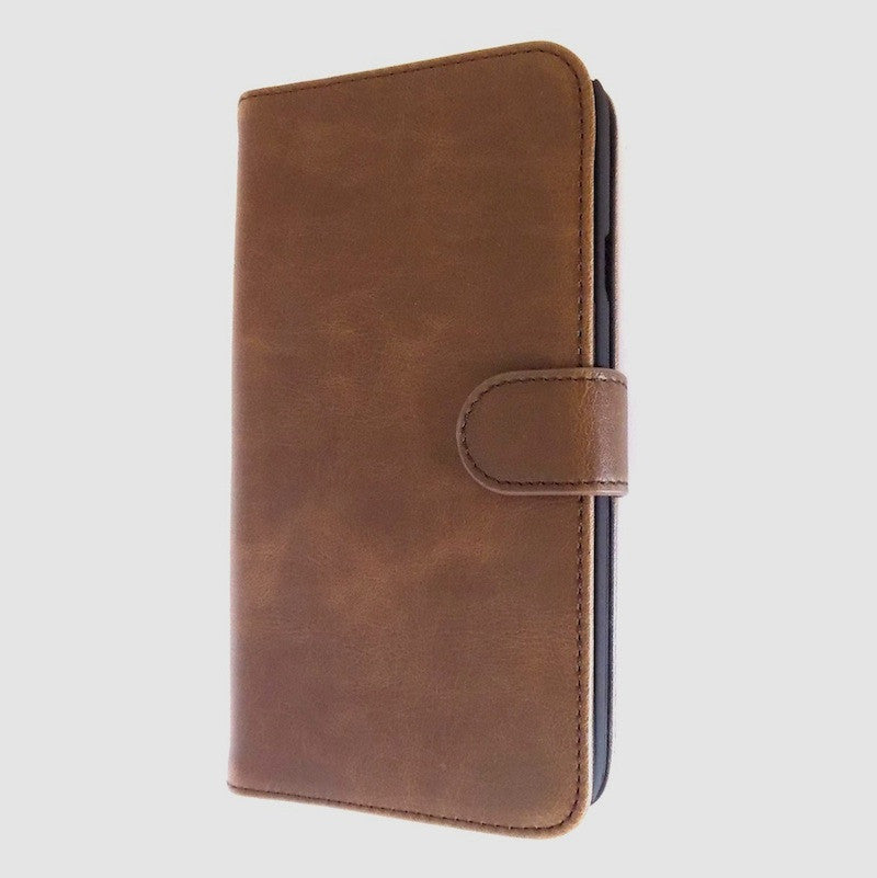 Bracevor Executive Brown Wallet Leather Flip Case for for Samsung Galaxy Mega 5.8 5
