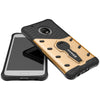 Motorola Moto G5 [5 inch] Back Case Cover Hybrid 360 Rotating Kickstand - Golden