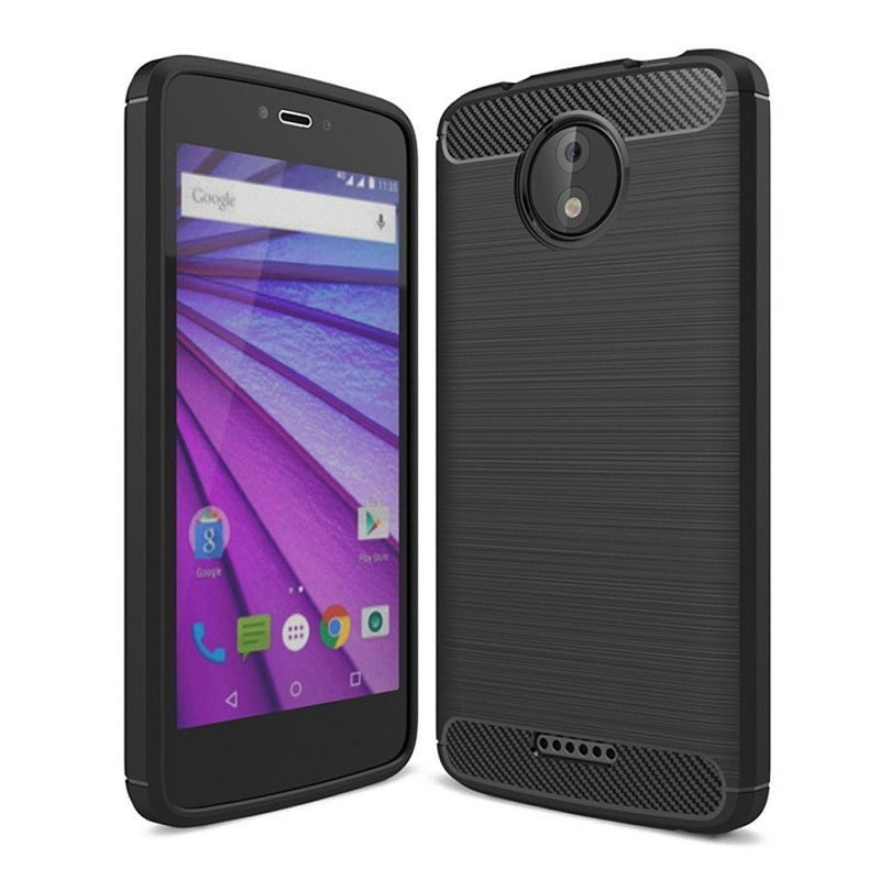 Motorola Moto C (5 inch) Back Case Cover | Anti Slip | Rugged Armor - Shimmer Black
