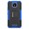 Shockproof Motorola Moto C (5 inch) Hybrid Kickstand Back Case Defender Cover - Blue