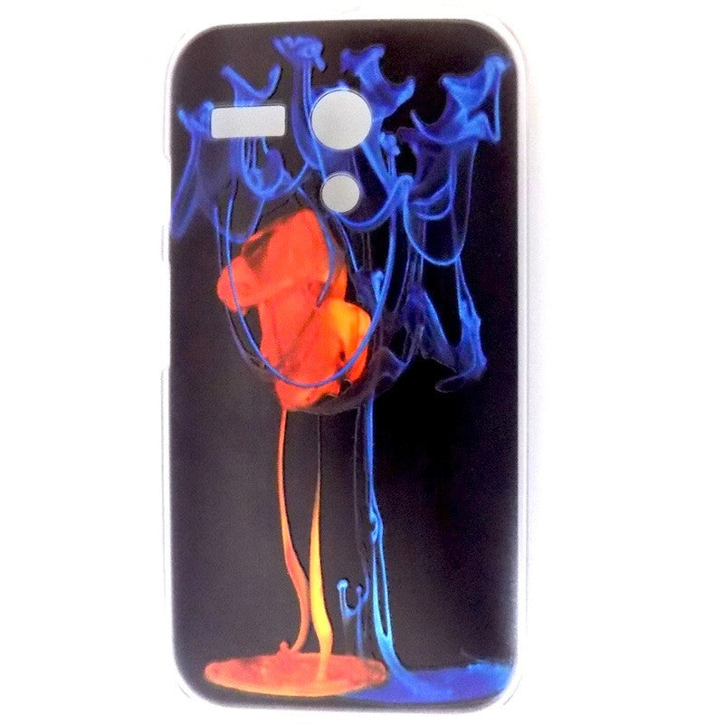 Bracevor Fire and Ice Design Hard Back Case for Motorola Moto G