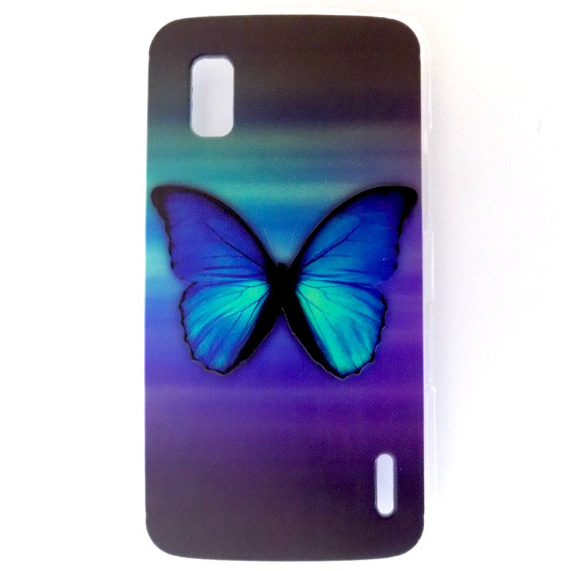 Bracevor Splendid Butterfly Design Hard Back Case for LG Google Nexus 4