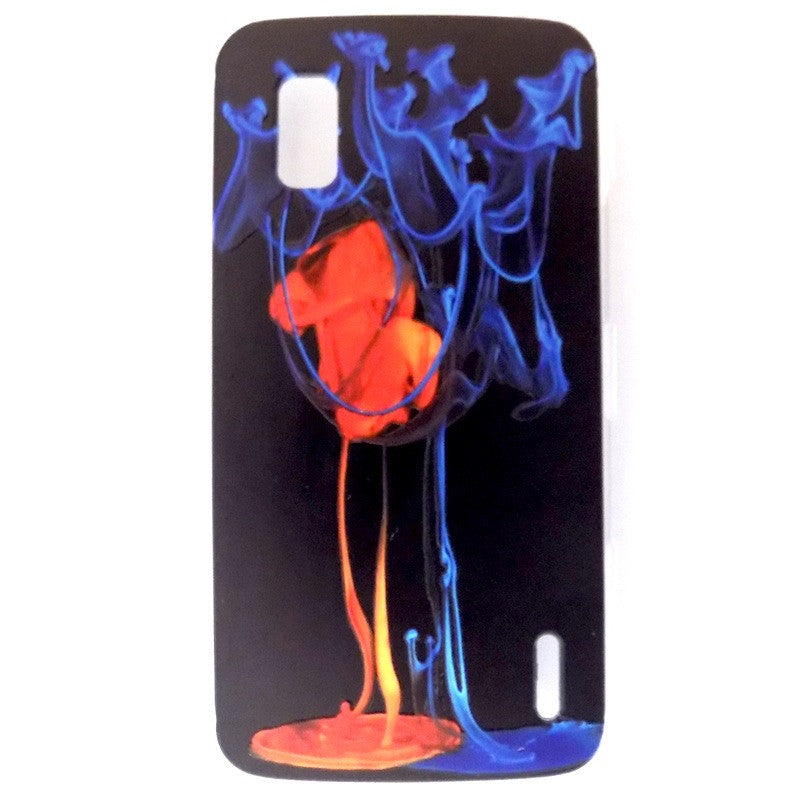 Bracevor Fire and Ice Design Hard Back Case for LG Google Nexus 4