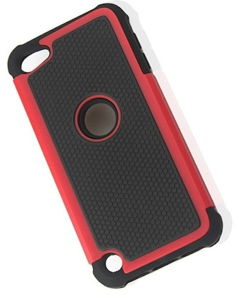 Bracevor Triple Layer Defender Back Case Cover for Apple iPod Touch 5 - Red