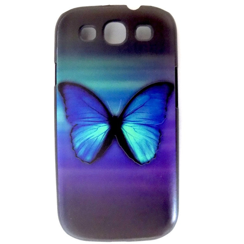 Bracevor Butterfly Design Hard Back Case for Samsung Galaxy S3
