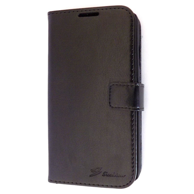 Best s4 cases Deluxe Black Samsung Galaxy S4  i9500 Wallet Leather Case
