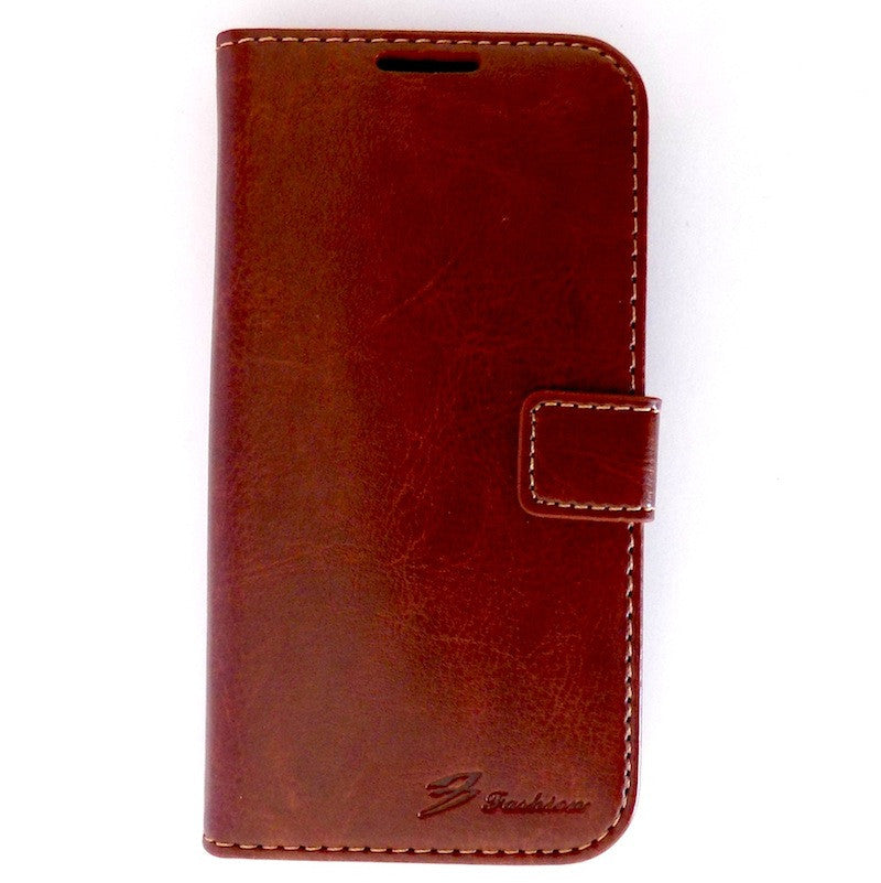 s4 Leather case Brown Samsung Galaxy S4 i9500 Wallet Leather Case