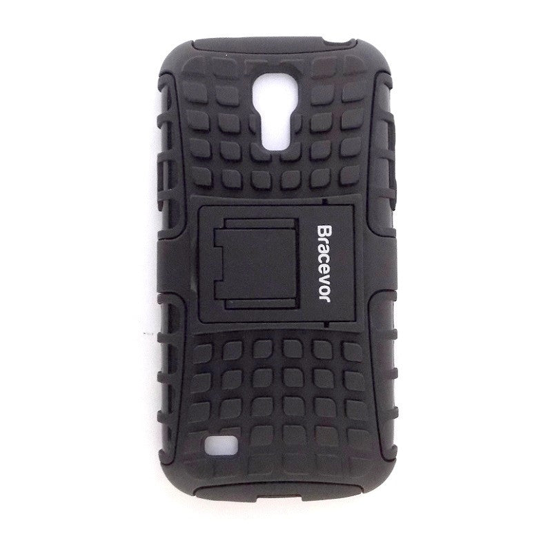 Bracevor Rugged Armor Hybrid Kickstand Case Cover for Samsung Galaxy  S4 mini i9190 i9192- Black