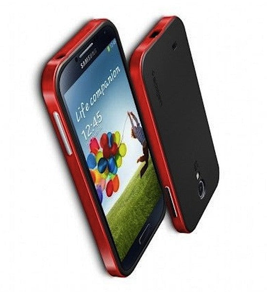 Bracevor Neo Hybrid Bumper Back Case for Samsung Galaxy S4 I9500 - Red