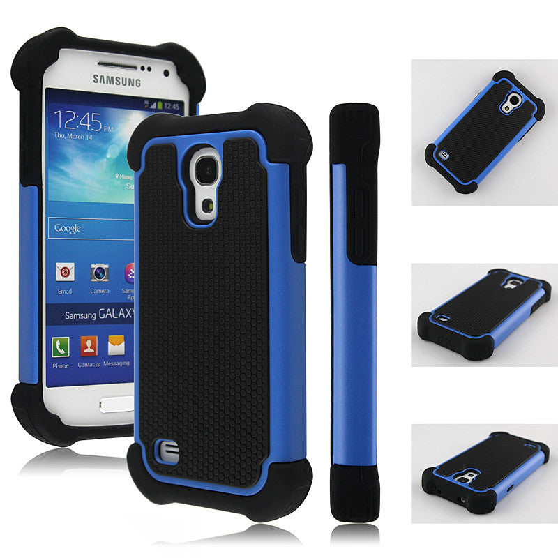 Bracevor Triple Layer Defender Back Case for Samsung Galaxy S4 mini - Blue
