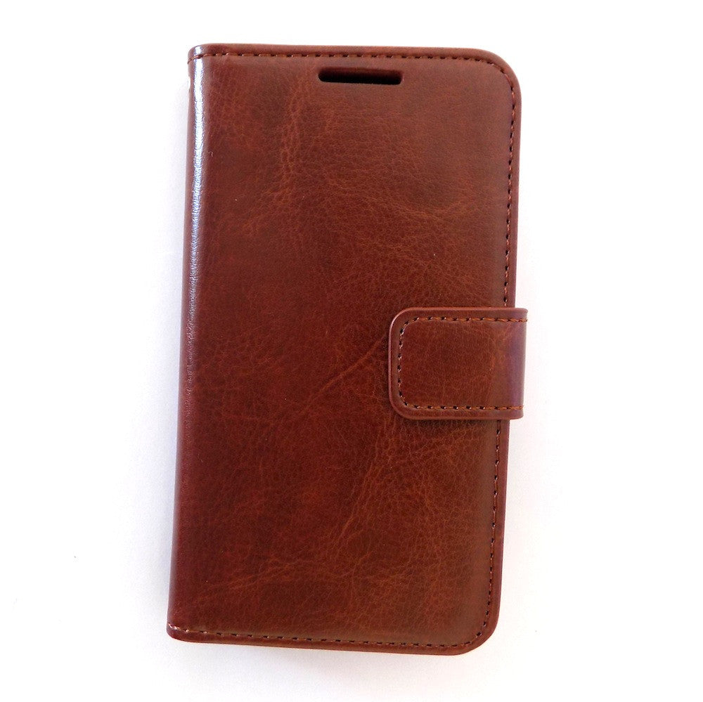 Bracevor Executive Brown Samsung Galaxy S4 mini Wallet Leather Case Cover