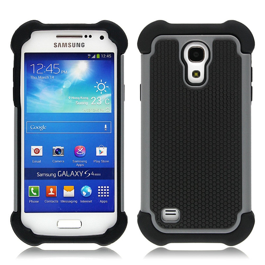 Bracevor Triple Layer Defender Back Case Cover for Samsung Galaxy S4 mini - Grey