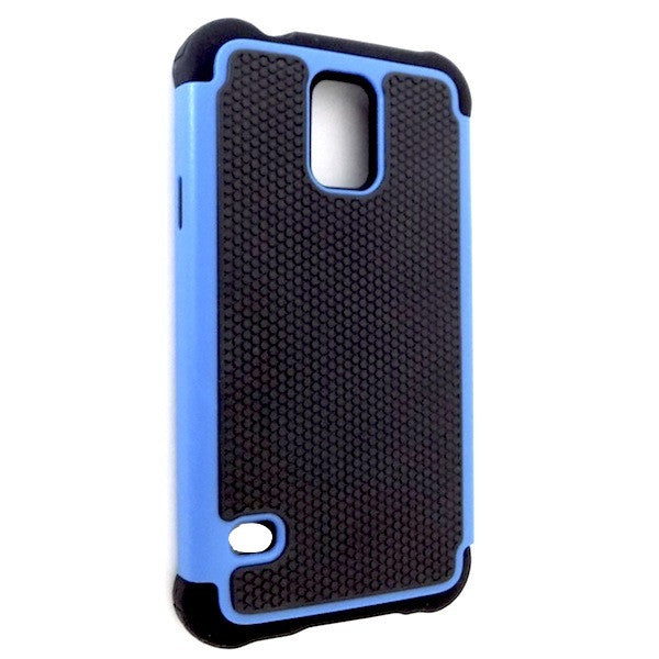Bracevor Triple Layer Defender Back Case Cover for Samsung Galaxy S5 i9600 - Blue