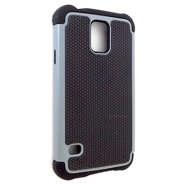 Bracevor Triple Layer Defender Back Case Cover for Samsung Galaxy S5 i9600 - Grey