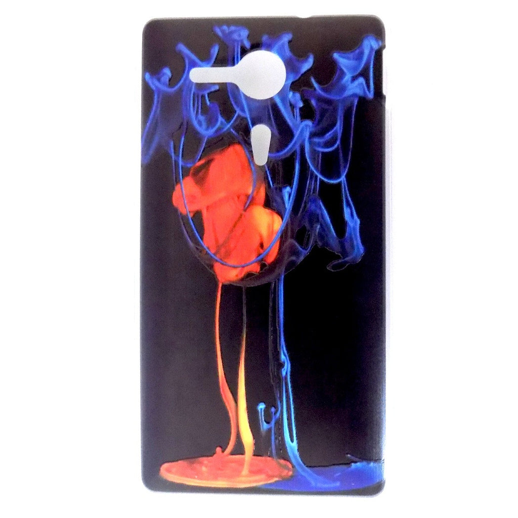 Bracevor Fire and Ice Design Hard Back Case for Sony Xperia SP