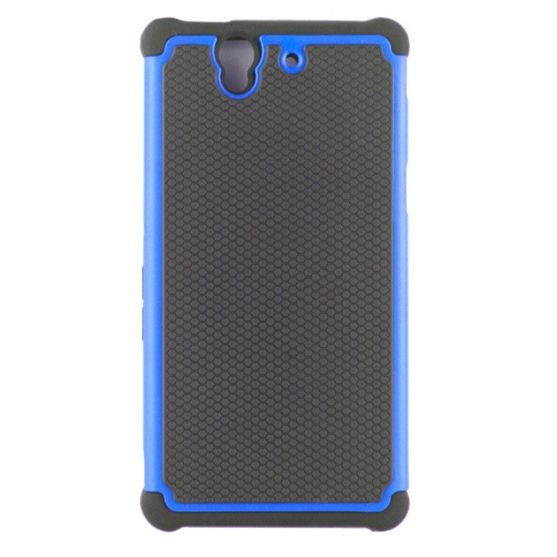 Bracevor Triple Layer Defender Back Case for Sony Xperia Z L36H - Blue 1