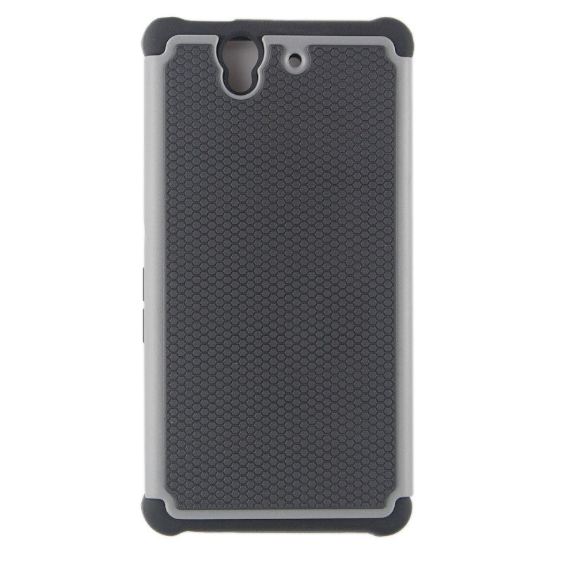 Bracevor  Triple Layer Defender Back Case for Sony Xperia Z L36H - Grey 1