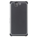 Triple Layer Defender Back Case for Sony Xperia Z L36H - Grey
