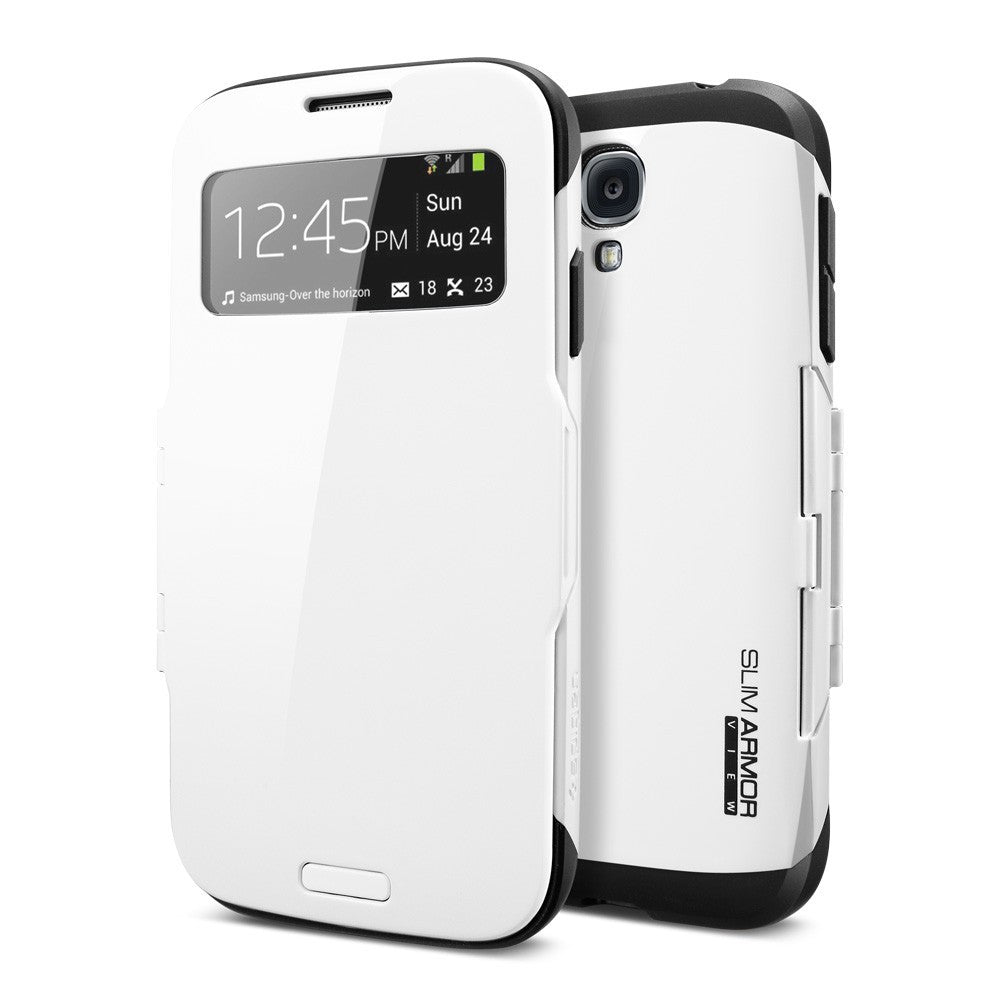 Bracevor S View Armor Smart Flip Case for Samsung Galaxy S4 i9500 - White