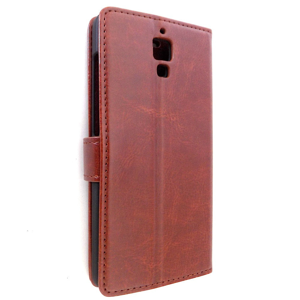 hot sale online c673c 4d6dc Xiaomi Mi4 Wallet Stand Leather Case Cover - Brown – Bracevor