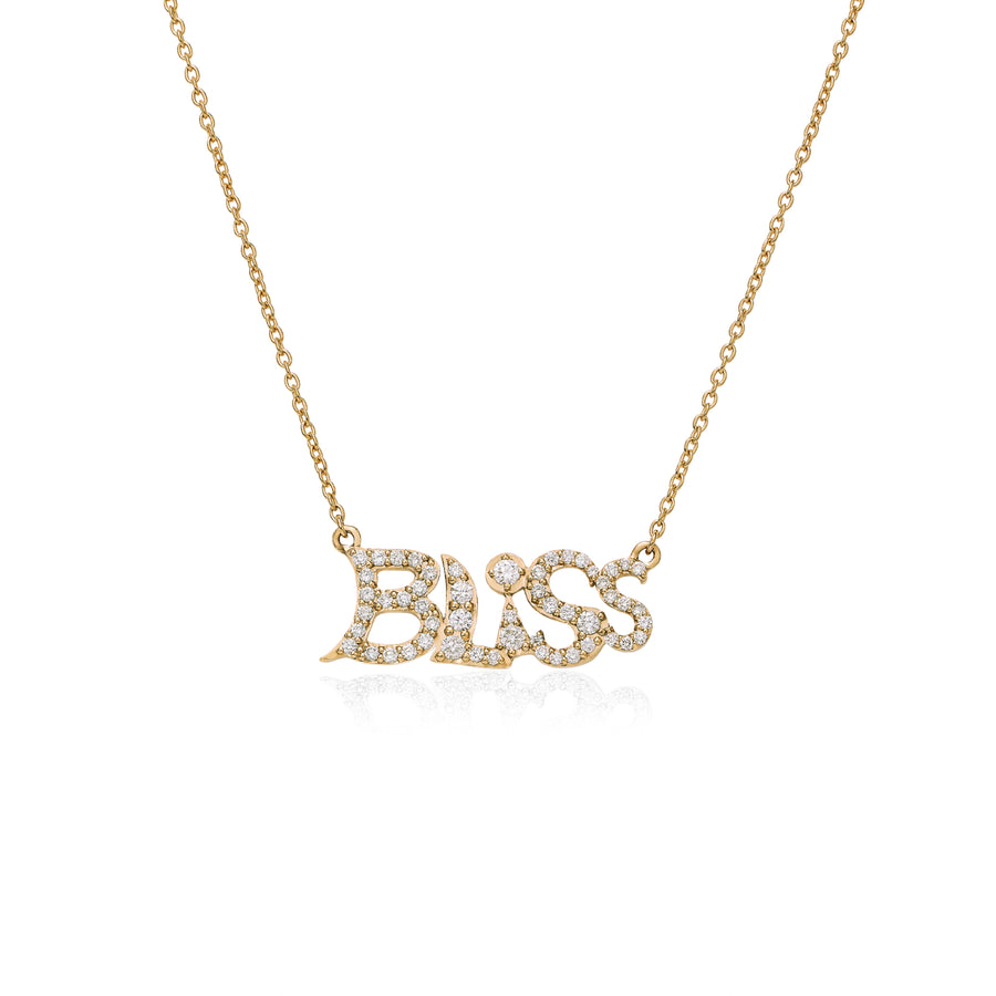 Bliss Necklace Yellow Gold Wisdom Graffities