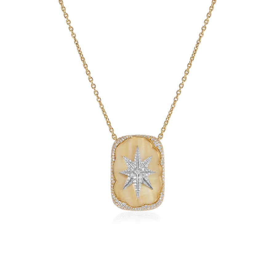 Diamonds A Star is Born Necklace with Yellow Mother of Pearl