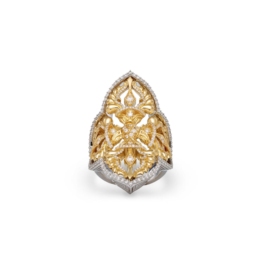 Double Dorje Gold Ring