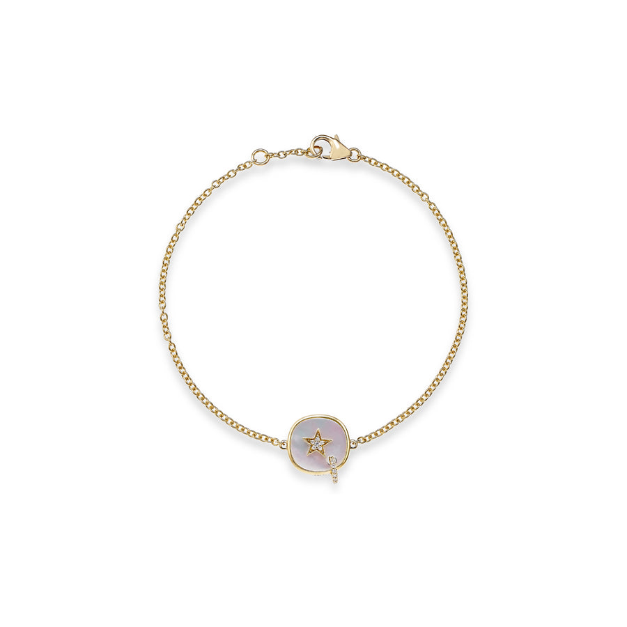 Piercing Star Bracelet with Mother of Pearl
