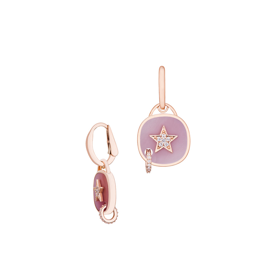 Piercing Star earrings with Mother of Pearl