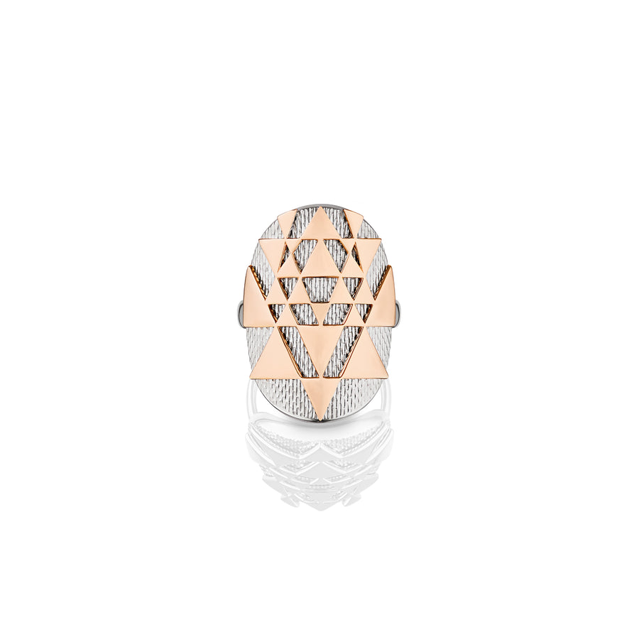 Sacred Yantra Ring with texture