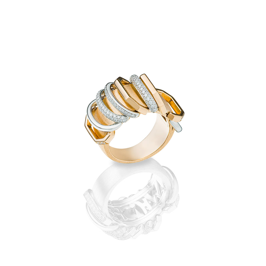 Whisper Ring in Yellow and White Gold Whispering Truth