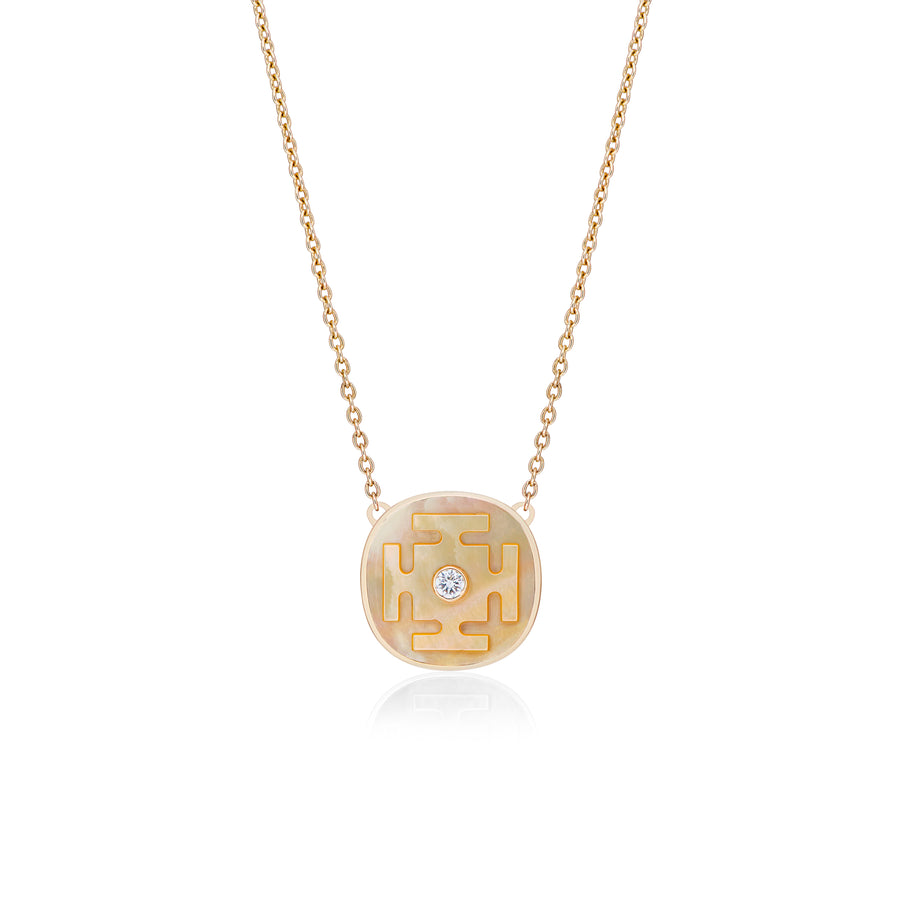 Yantra Necklaces with Mother of Pearl