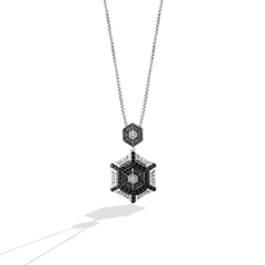 THE TIE FIGHTER WOMEN'S PENDANT 1/3 CT.TW. Black and White Diamonds Silver