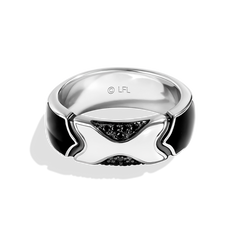THE STORMTROOPER MEN'S RING 1/6 CT.TW. Black Diamonds and Ceramic Silver