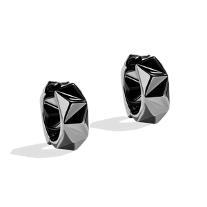 DARK ARMOR WOMEN'S HOOPS Silver and Black Rhodium