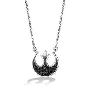 THE REBEL WOMEN'S PENDANT 1/4 CT.TW. Black Diamonds Silver