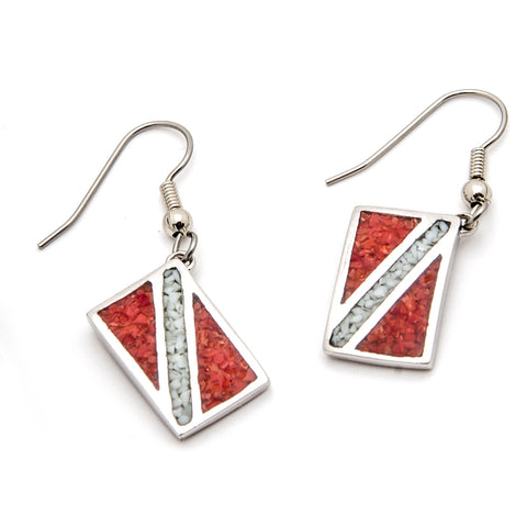 Dive Flag Earrings Jewelry