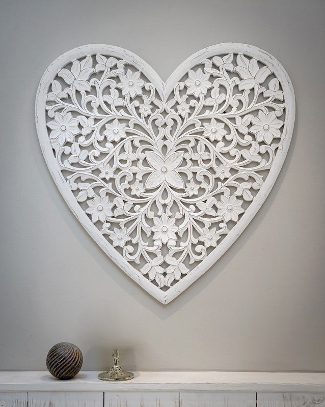 Feature Product - the Hand Carved Wall Heart.
