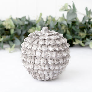 small rustic pine cone ceramic decor