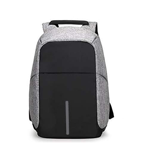 1208 Smart Grey Laptop Backpack with USB Plug Charging Port