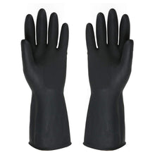Load image into Gallery viewer, 673 - Heavy Reusable Rubber Hand Gloves (Black) - 1pc