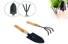 Load image into Gallery viewer, HomefyShop Gardening Tools - Falcon Gloves, Flower Cutter/Scissor & Garden Tool Wooden Handle (3pcs-Hand Cultivator, Small Trowel, Garden Fork)