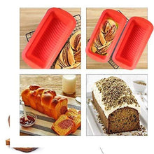 Load image into Gallery viewer, 0772 Silicone Square Baking Loaf Mould Tray