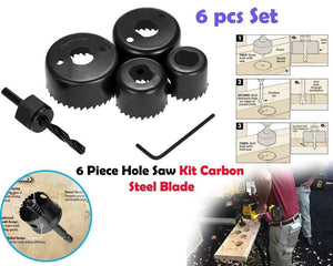 HomefyShop Professional Power Tools Electric Drill Machine 10 mm Drill Bit Cutting Round Circular Cutter 6Pc Hole Saw Set (Multicolour)