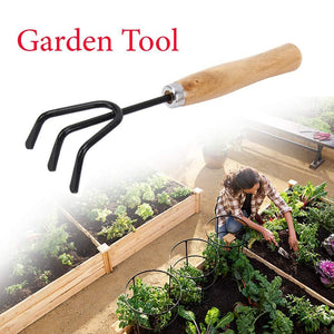 HomefyShop Gardening Tools kit Hand Cultivator, Small Trowel, Garden Fork (Set of 4)