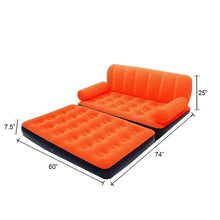 Load image into Gallery viewer, 870 -5 in 1 Foldable Inflatable Multi Function Double Air Bed Sofa Chair Couch Lounger Bed Mattress with Air Pump