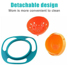 Load image into Gallery viewer, 0617 Portable Non Spill Feeding Toddler Gyro Bowl 360 Degree Rotating Dish